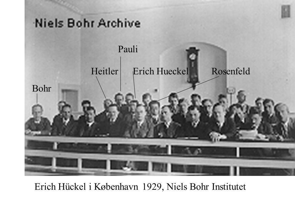 Erich Hueckel Erich Hückel i København 1929, Niels Bohr Institutet HeitlerRosenfeld Bohr Pauli