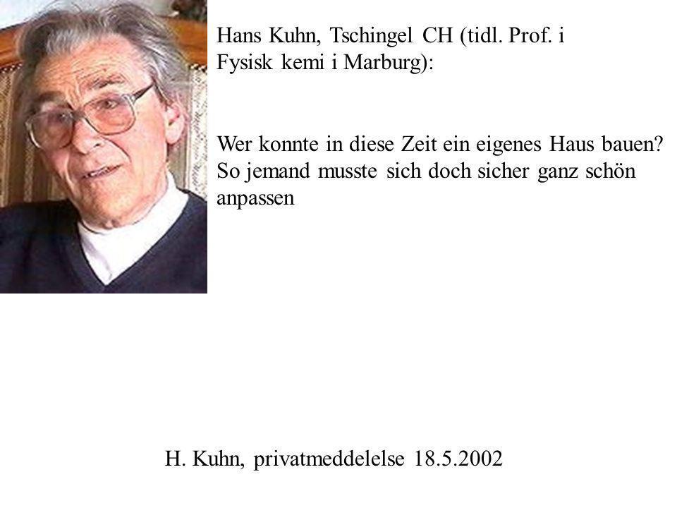 Hans Kuhn, Tschingel CH (tidl. Prof.