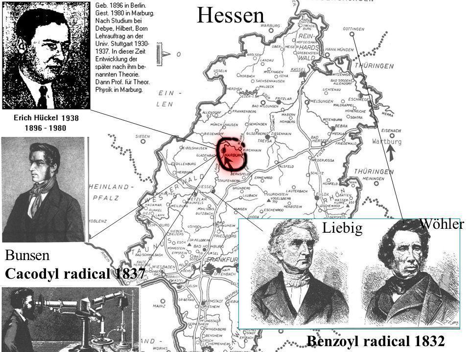Bunsen Cacodyl radical 1837 Liebig Wöhler Hessen Benzoyl radical 1832