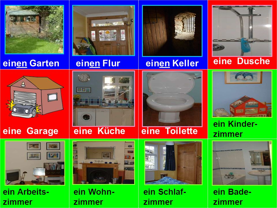 Was fehlt. (What is missing ) You will see 12 rooms again on the next slide.