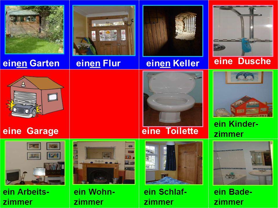 einen Garteneinen Flureinen Keller eine Dusche eine Garageeine Kücheeine Toilette ein Kinder- zimmer ein Arbeits- zimmer ein Wohn- zimmer ein Schlaf-