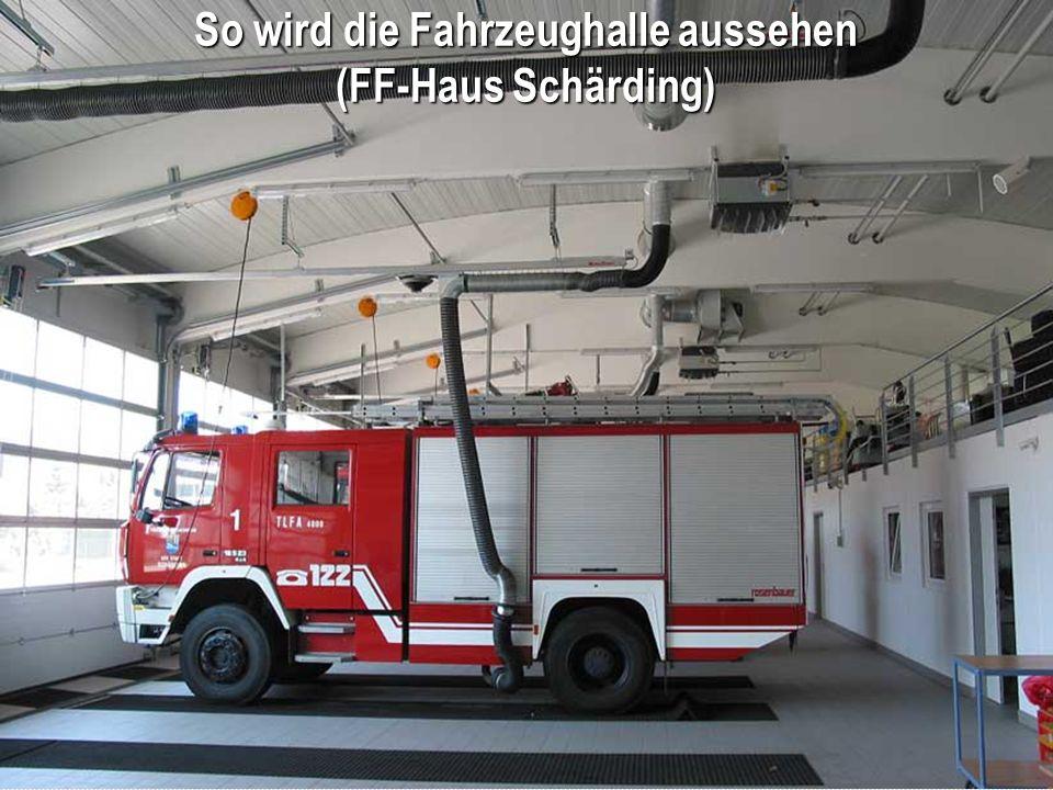 So wird die Fahrzeughalle aussehen (FF-Haus Schärding)