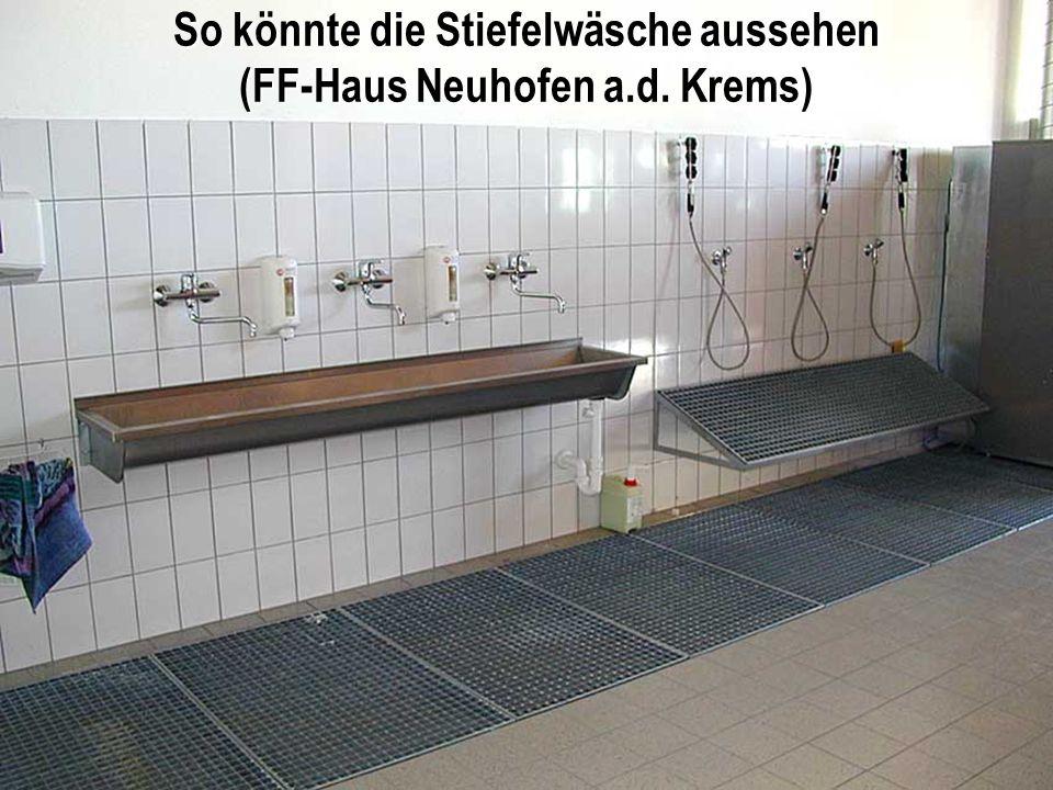 So könnte die Stiefelwäsche aussehen (FF-Haus Neuhofen a.d. Krems)