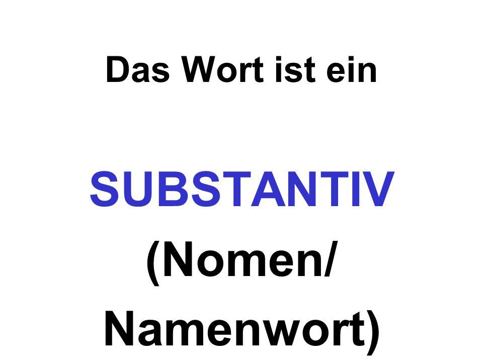 Das Wort ist ein SUBSTANTIV (Nomen/ Namenwort)