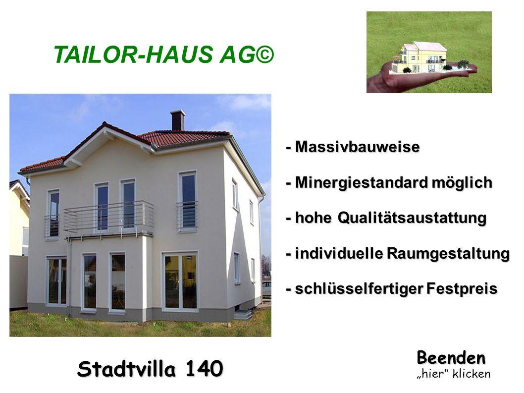 TAILOR-HAUS AG© Stadtvilla 140 - Massivbauweise - Minergiestandard möglich - hohe Qualitätsaustattung - individuelle Raumgestaltung - schlüsselfertige