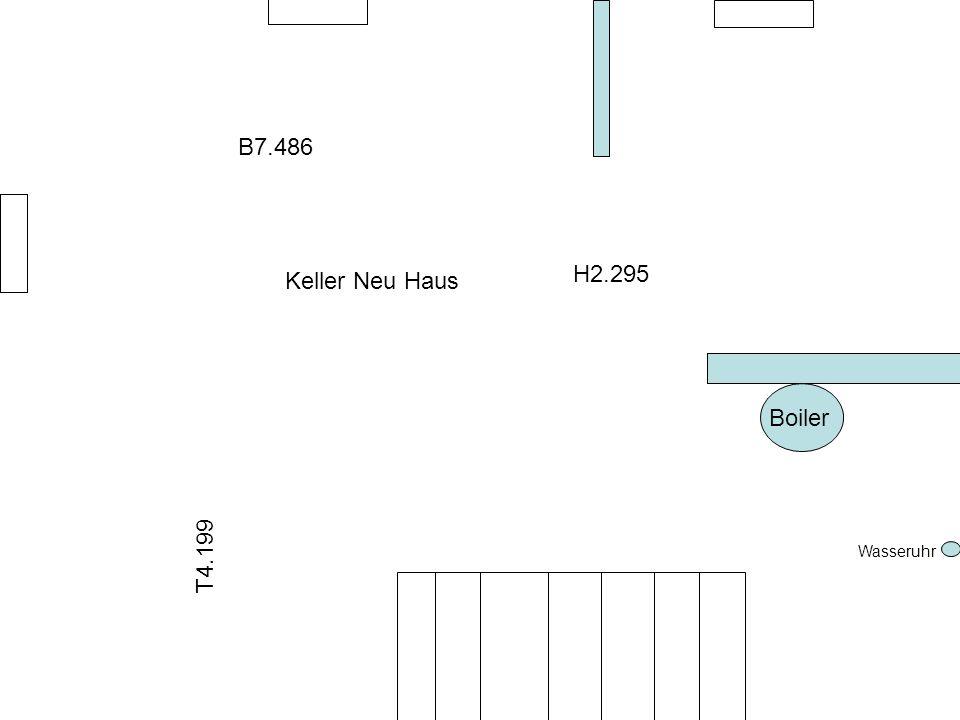 Boiler Wasseruhr Keller Neu Haus B7.486 H2.295 T4.199
