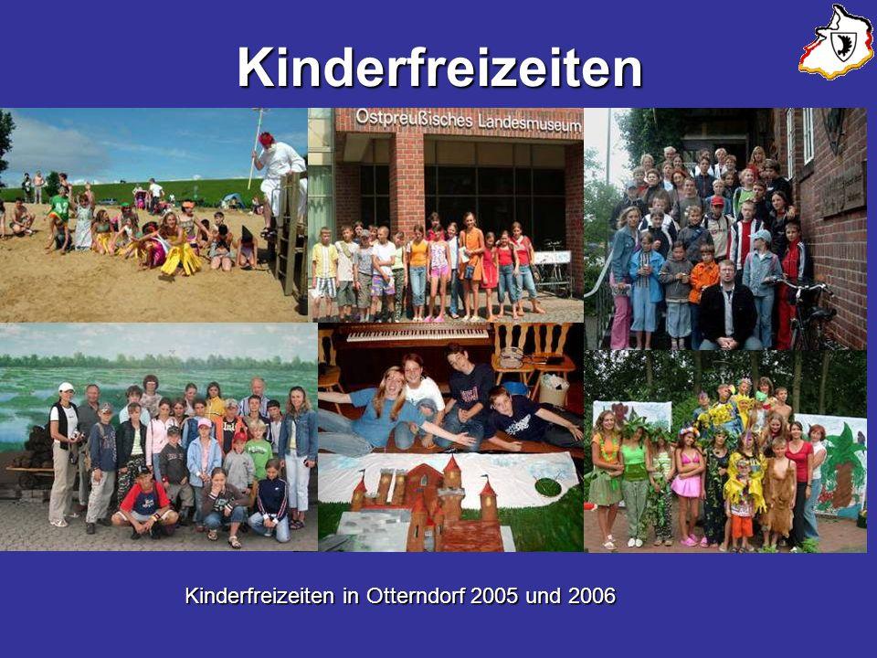 Kinderfreizeiten Kinderfreizeiten in Otterndorf 2005 und 2006