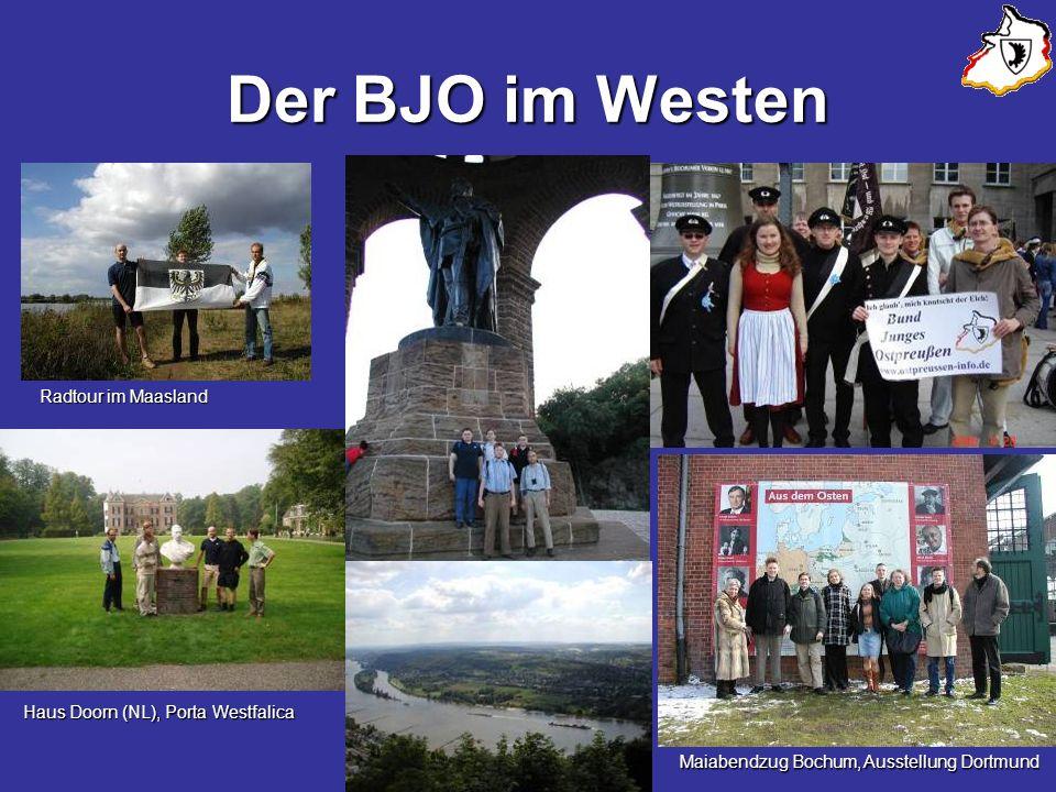 Der BJO im Westen Radtour im Maasland Haus Doorn (NL), Porta Westfalica Maiabendzug Bochum, Ausstellung Dortmund