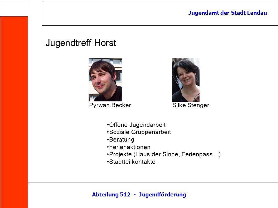 Abteilung 512 - Jugendförderung Jugendamt der Stadt Landau Kontakt: http://jufoelandau.com