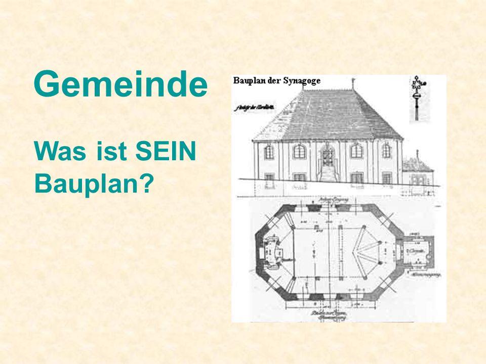 Gemeinde Was ist SEIN Bauplan?