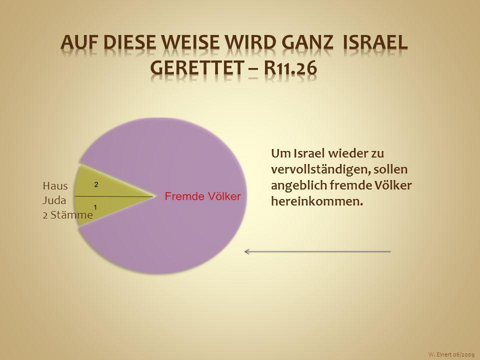 Um Israel wieder zu vervollständigen, sollen angeblich fremde Völker hereinkommen. Haus Juda 2 Stämme W. Einert 06/2009
