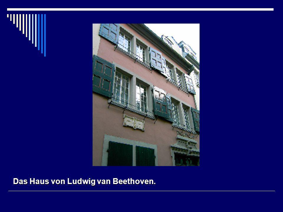 Das Haus von Ludwig van Beethoven.
