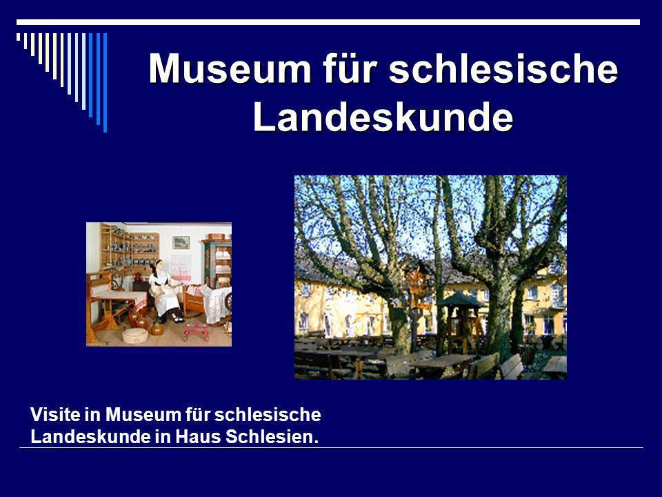 Visite in Museum für schlesische Landeskunde in Haus Schlesien. Museum für schlesische Landeskunde