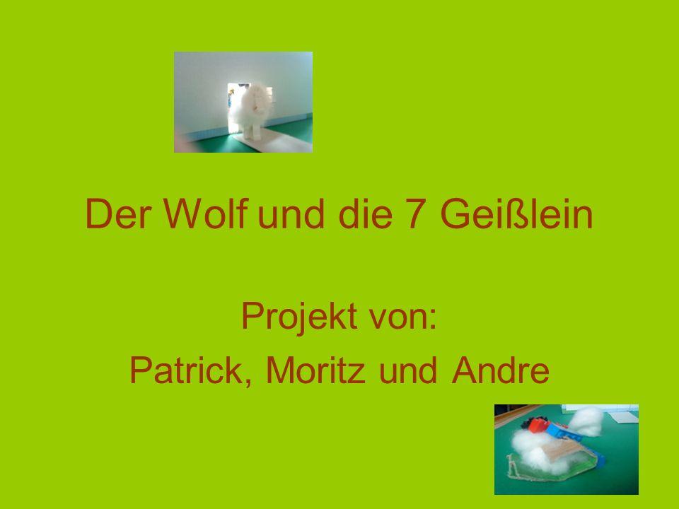 Damit öffnet sie den Bauch des Wolfes und es zeigt sich, dass alle Geißlein noch am Leben sind und dem Bauch entspringen können.