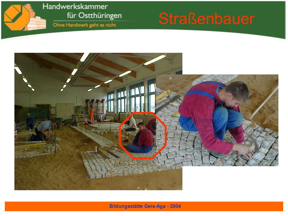 Bildungsstätte Gera-Aga - 2004 Leiterwagen für den Umzug zum Thüringentag am 30.9.2001 erstellt von unseren Lehrmeistern Ausbildung zum Zimmerer