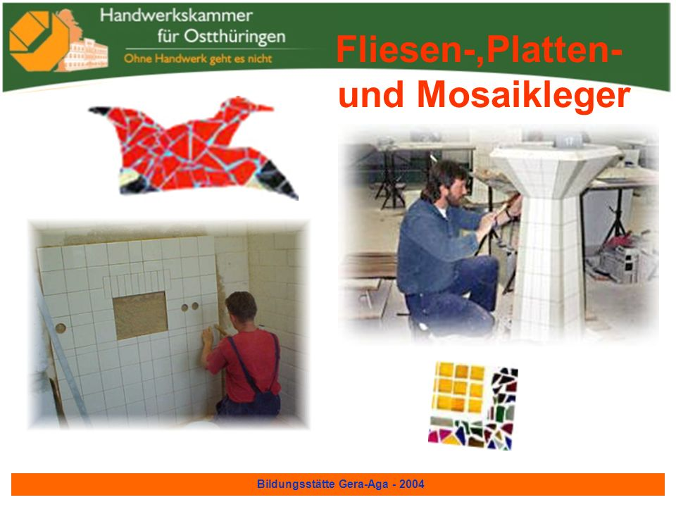Bildungsstätte Gera-Aga - 2004 Straßenbauer... hier einige Musterprojekte