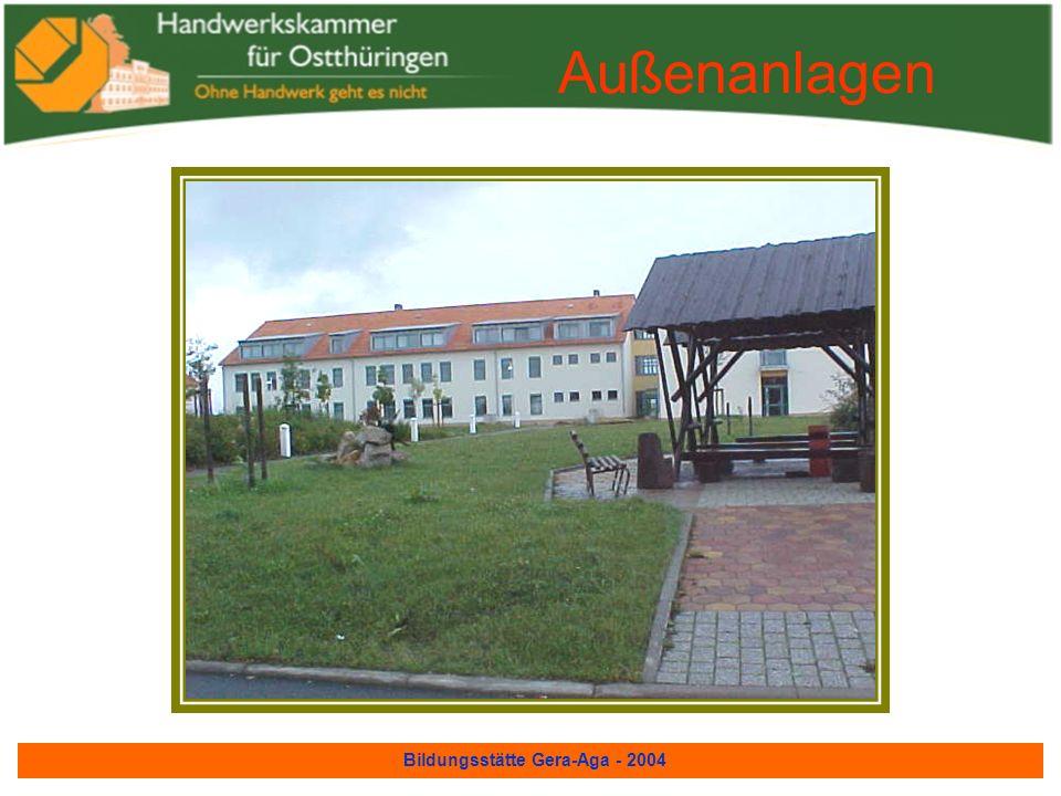 Bildungsstätte Gera-Aga - 2004 Blick auf die Außenanlagen