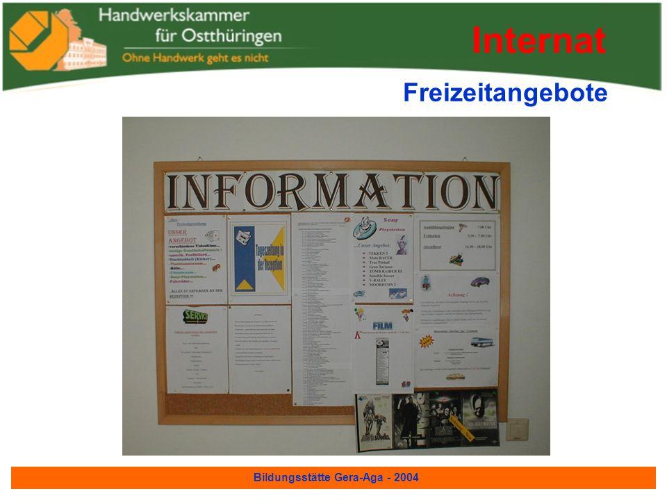 Bildungsstätte Gera-Aga - 2004 Ein-bzw. Drei Bett-Zimmer Internat mit Dusche und WC