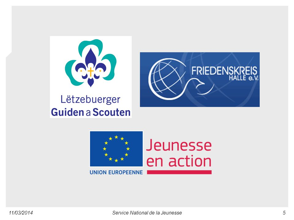 11/03/2014Service National de la Jeunesse5