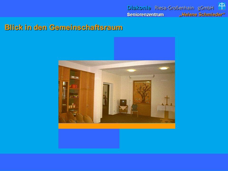 Blick in den Gemeinschaftsraum Blick in den Gemeinschaftsraum Seniorenzentrum Helene Schmieder Diakonie Riesa-Großenhain gGmbH