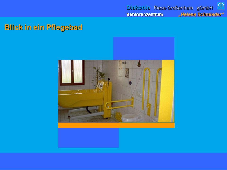 Blick in ein Pflegebad Blick in ein Pflegebad Seniorenzentrum Helene Schmieder Diakonie Riesa-Großenhain gGmbH