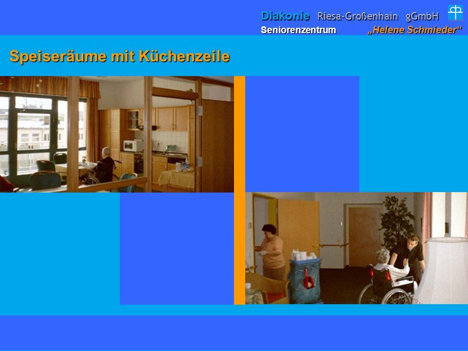 Speiseräume mit Küchenzeile Speiseräume mit Küchenzeile Seniorenzentrum Helene Schmieder Diakonie Riesa-Großenhain gGmbH
