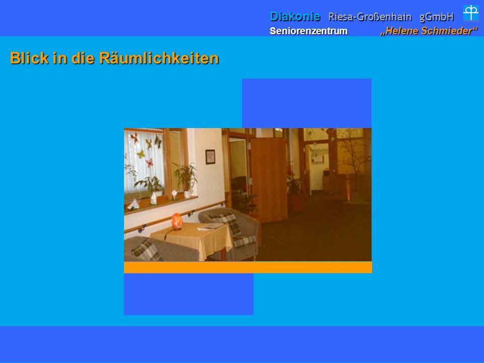 Blick in die Räumlichkeiten Blick in die Räumlichkeiten Seniorenzentrum Helene Schmieder Diakonie Riesa-Großenhain gGmbH