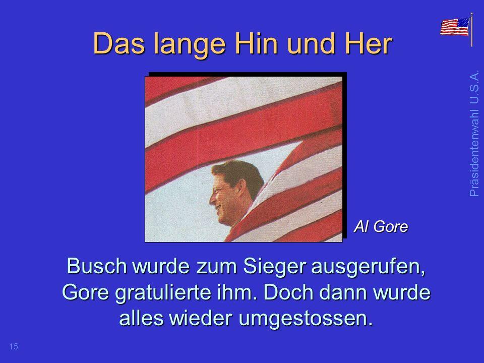 Präsidentenwahl U.S.A.