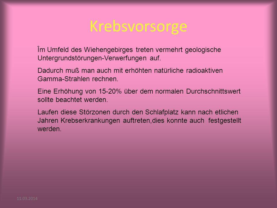 11.03.2014 Krebsvorsorge Îm Umfeld des Wiehengebirges treten vermehrt geologische Untergrundstörungen-Verwerfungen auf.