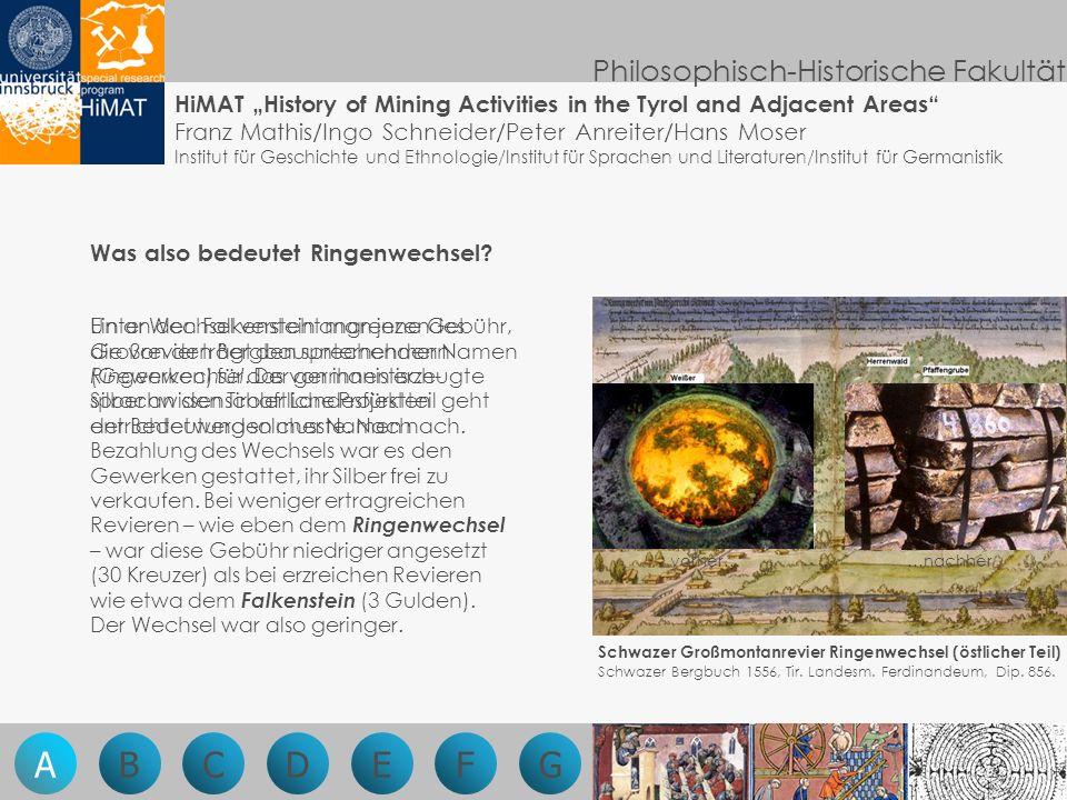 Philosophisch-Historische Fakultät Ein an den Falkenstein angrenzendes Großrevier trägt den sprechenden Namen Ringenwechsel.