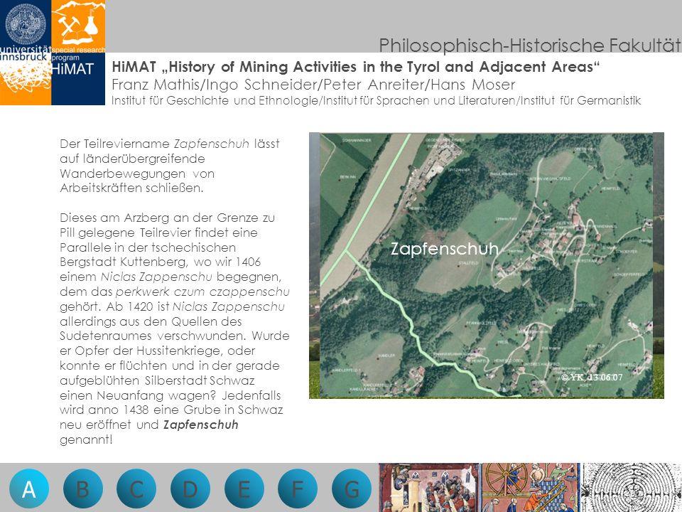 Philosophisch-Historische Fakultät Der Bergbau in seiner Beziehung zu Umwelt und Gesellschaft Es ist Samstag, der 10.