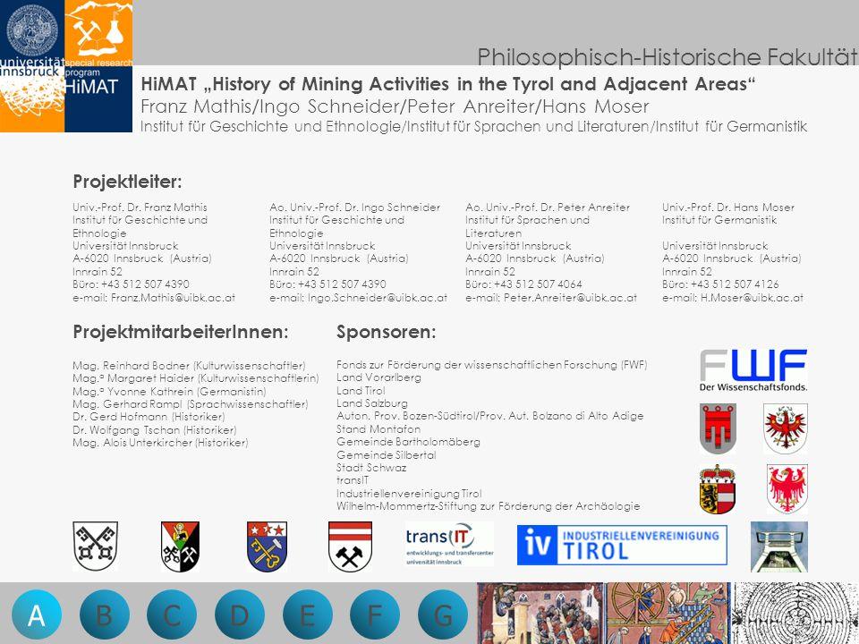 Fonds zur Förderung der wissenschaftlichen Forschung (FWF) Land Vorarlberg Land Tirol Land Salzburg Auton.
