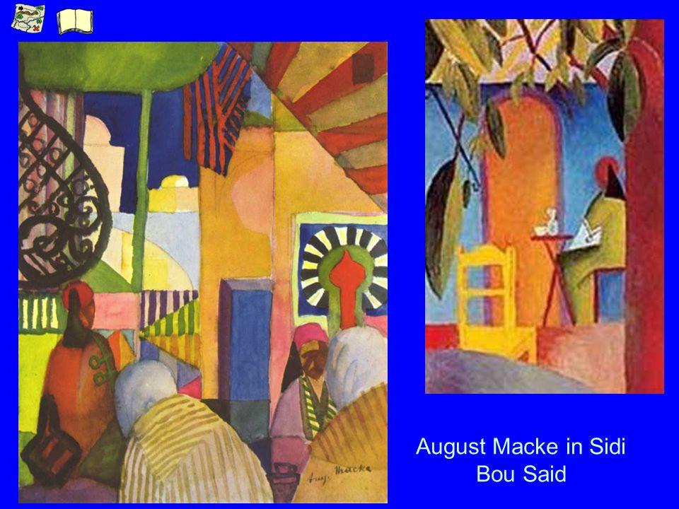 August Macke in Sidi Bou Said