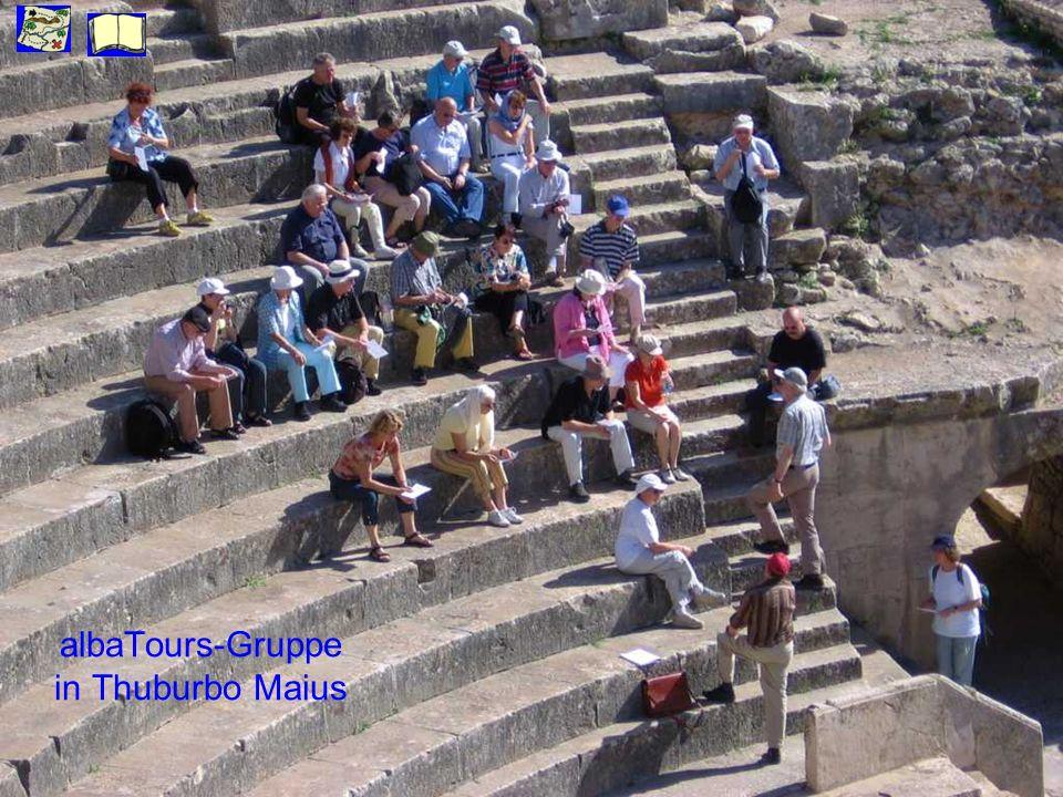 albaTours-Gruppe in Thuburbo Maius