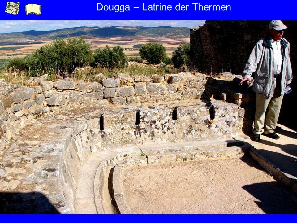 Dougga – Latrine der Thermen