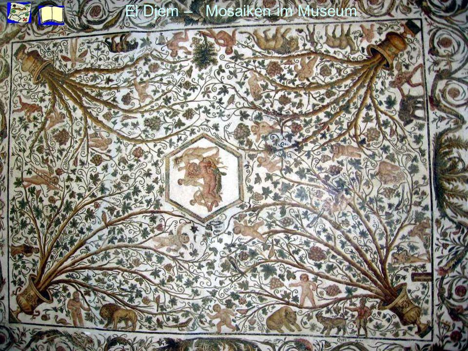 El Djem – Mosaiken im Museum