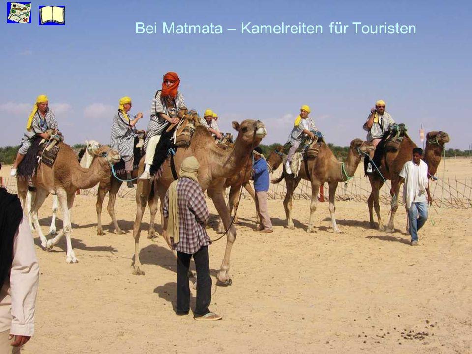 Bei Matmata – Kamelreiten für Touristen