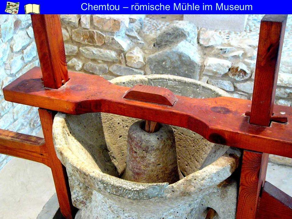 Chemtou – römische Mühle im Museum