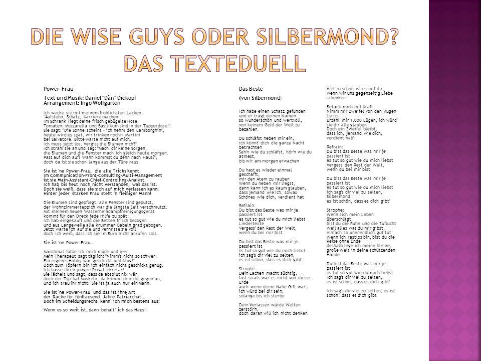 Die Wise-Guys Konzertberichte Silbermond Konzertberichte
