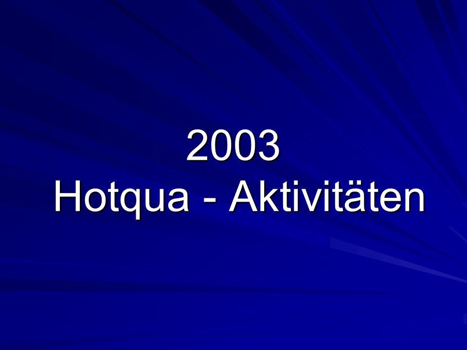 2003 Hotqua - Aktivitäten