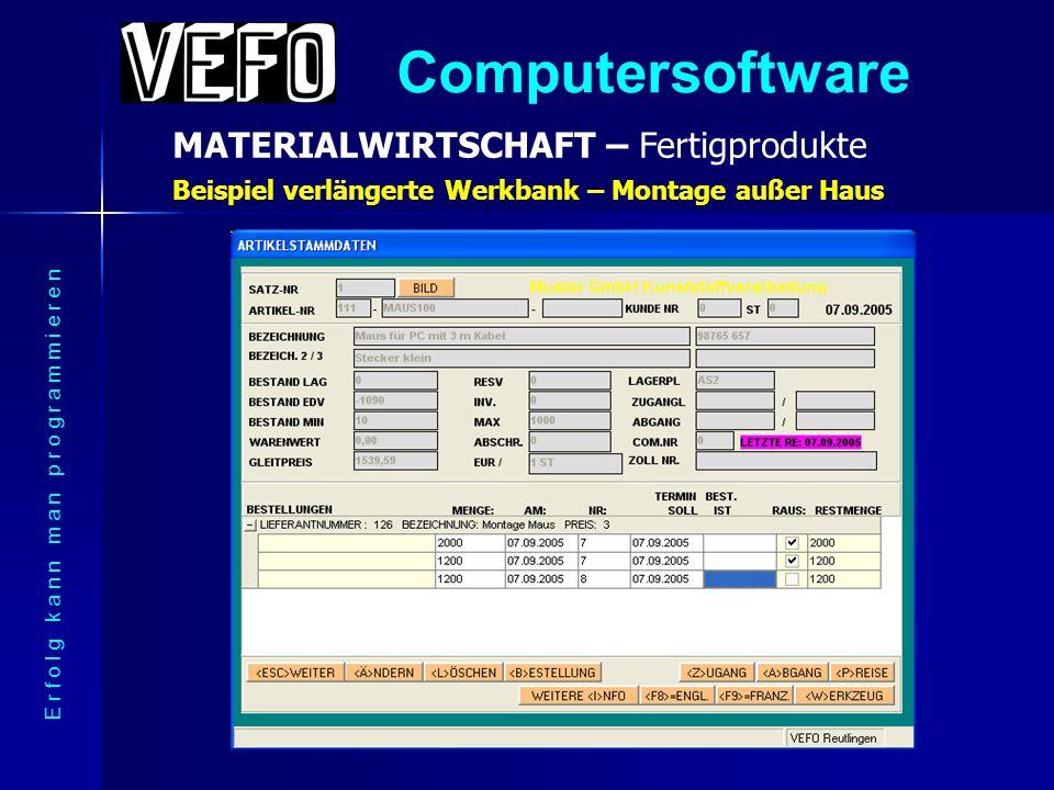 Computersoftware MATERIALWIRTSCHAFT – Informationen E r f o l g k a n n m a n p r o g r a m m i e r e n Viele Infos zu jedem Produkt (Staffelpreise, Zusatzdokumente)