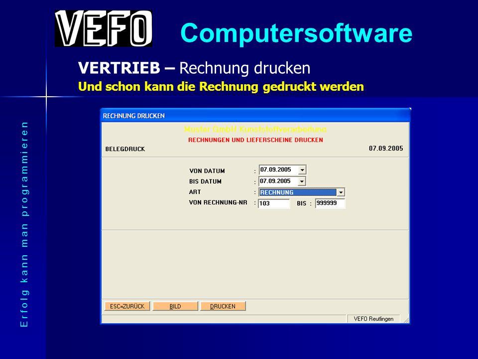 Computersoftware MATERIALWIRTSCHAFT – Bestellung drucken E r f o l g k a n n m a n p r o g r a m m i e r e n Hier ein Musterausdruck