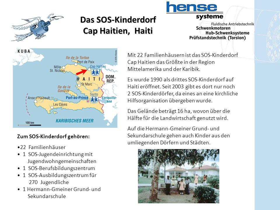 Das SOS-Kinderdorf Cap Haitien, Haiti Mit 22 Familienhäusern ist das SOS-Kinderdorf Cap Haitien das Größte in der Region Mittelamerika und der Karibik.