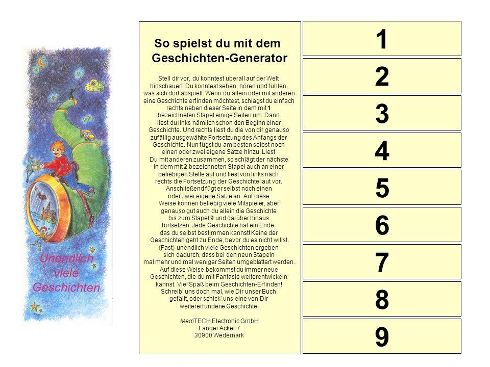 1 2 3 4 5 6 7 8 9 So spielst du mit dem Geschichten-Generator Stell dir vor, du könntest überall auf der Welt hinschauen. Du könntest sehen, hören und