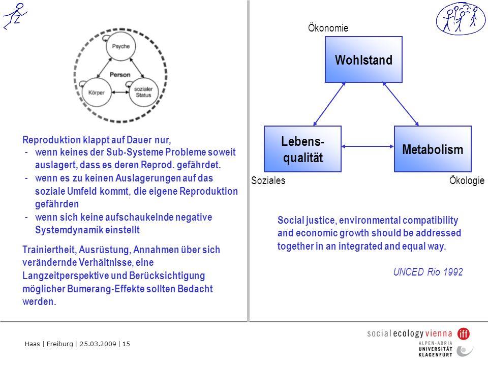 Haas | Freiburg | 25.03.2009 | 15 Reproduktion klappt auf Dauer nur, - wenn keines der Sub-Systeme Probleme soweit auslagert, dass es deren Reprod.