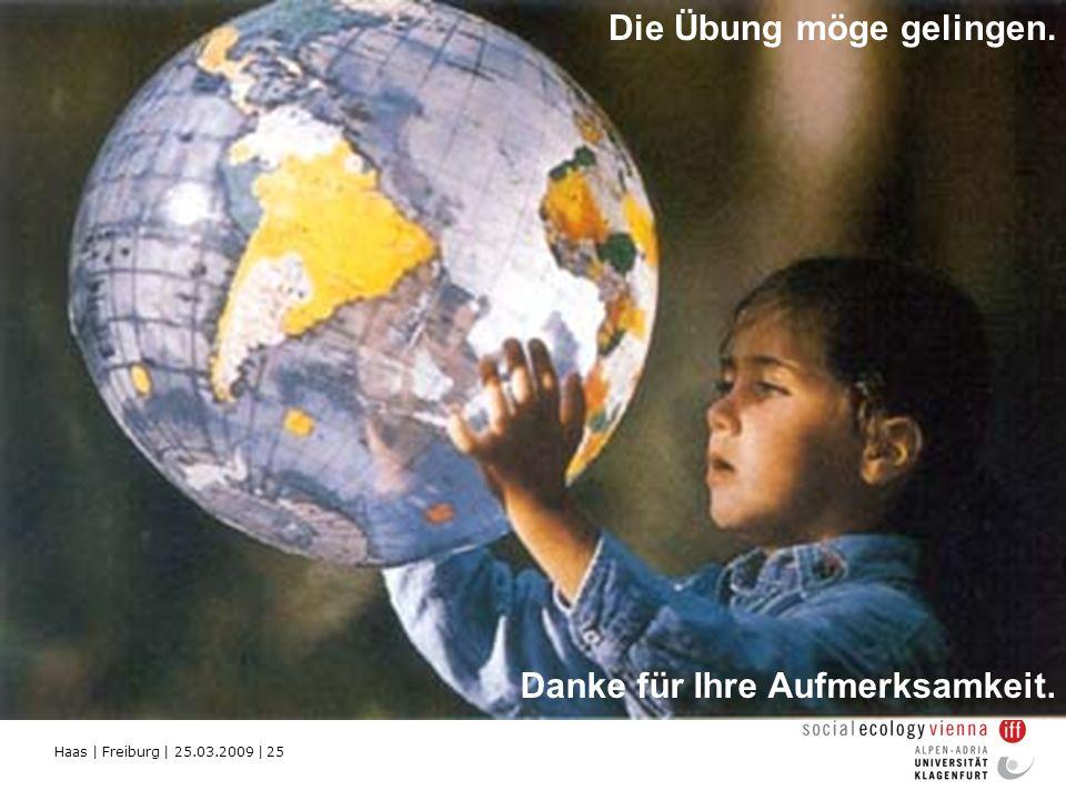 Haas | Freiburg | 25.03.2009 | 25 Die Übung möge gelingen. Danke für Ihre Aufmerksamkeit.
