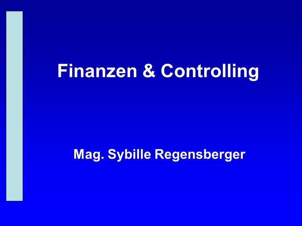 Finanzen & Controlling Mag. Sybille Regensberger