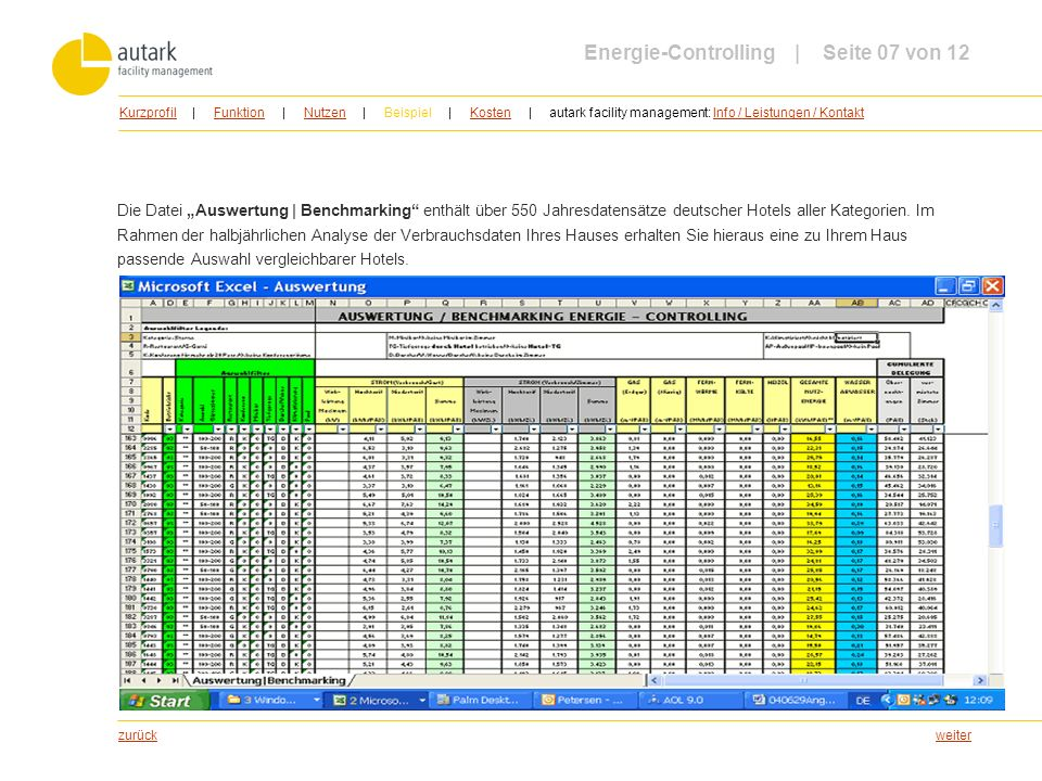 weiter Die Datei Auswertung | Benchmarking enthält über 550 Jahresdatensätze deutscher Hotels aller Kategorien. Im Rahmen der halbjährlichen Analyse d