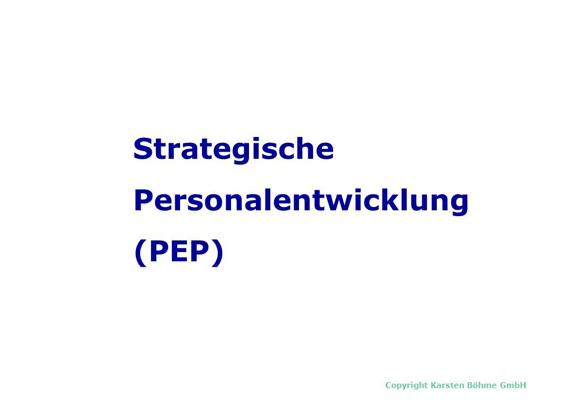 Copyright Karsten Böhme GmbH Strategische Personalentwicklung (PEP)