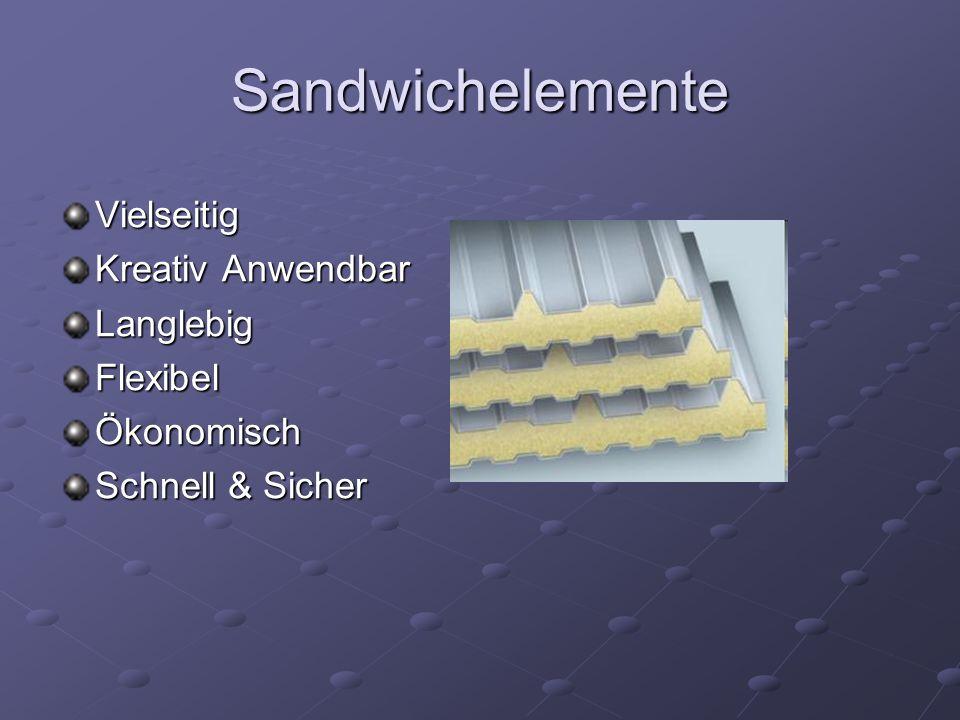 Sandwichelemente Vielseitig Kreativ Anwendbar LanglebigFlexibelÖkonomisch Schnell & Sicher
